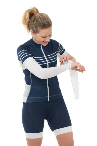 White Arm Warmers
