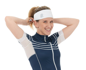White cyclewear jolieride women bicycle bikewear cycle wear accessories bandana