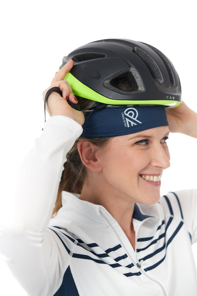 Navy cyclewear jolieride women bicycle bikewear cycle wear accessories bandana