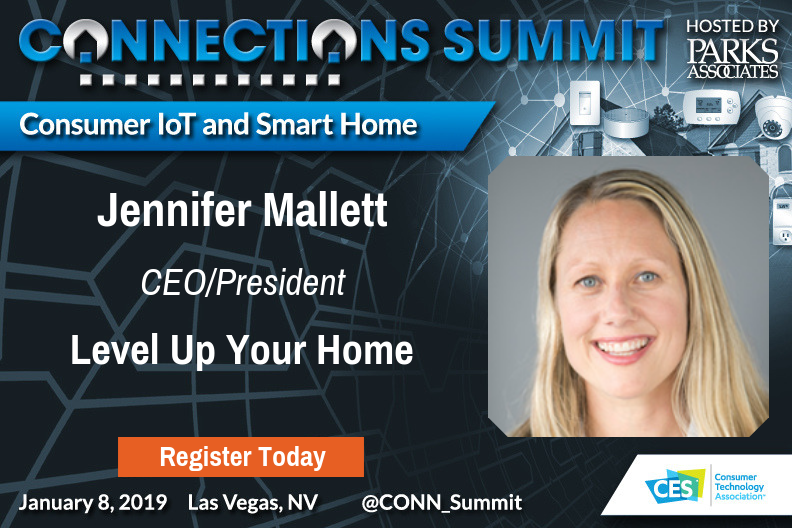 Press Release - Level Up Your Home to present key insights for the  smart home industry at Parks Associates' CONNECTIONS™ Summit at CES