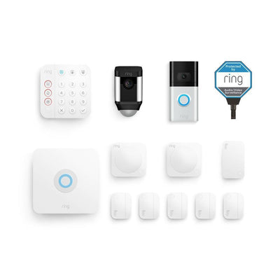 RING Security 10-Piece Deluxe Alarm Protection Kit