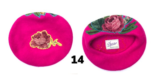 Bright Pink Floral Hat