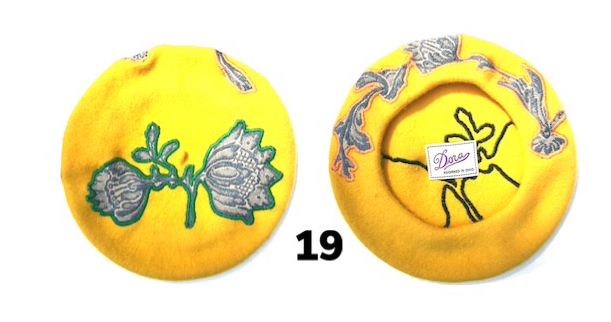 Sunshine Yellow Floral Hat