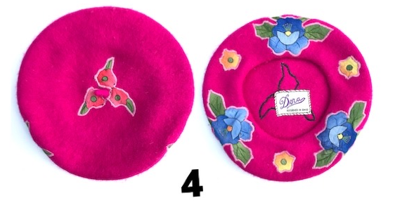 Bright Pink Floral Patterned Hat