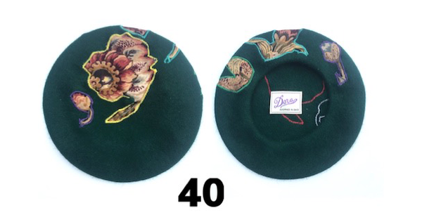 Emerald Green Floral Hat
