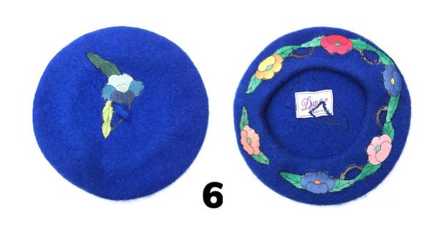 Royal Blue Floral Hat
