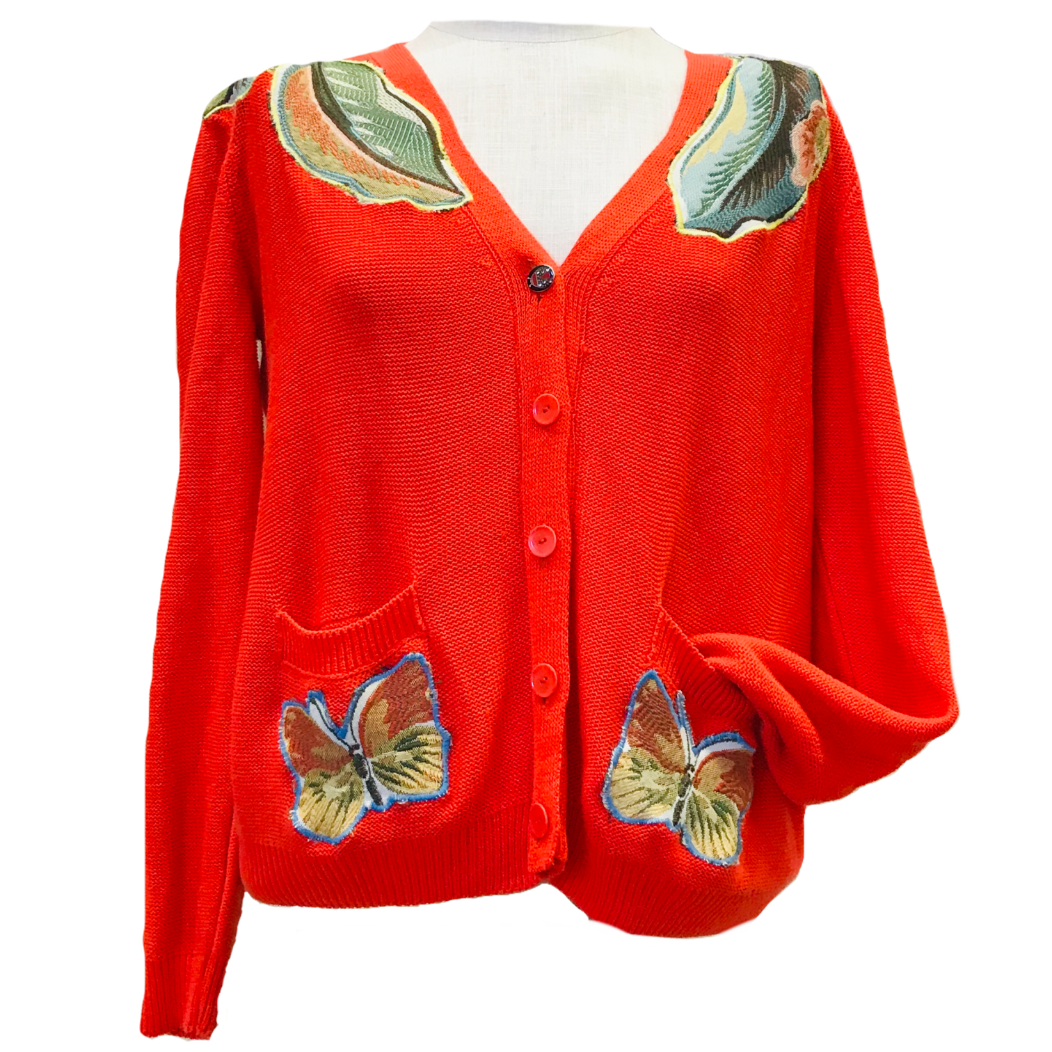 Bright Orange Butterfly / Size Large