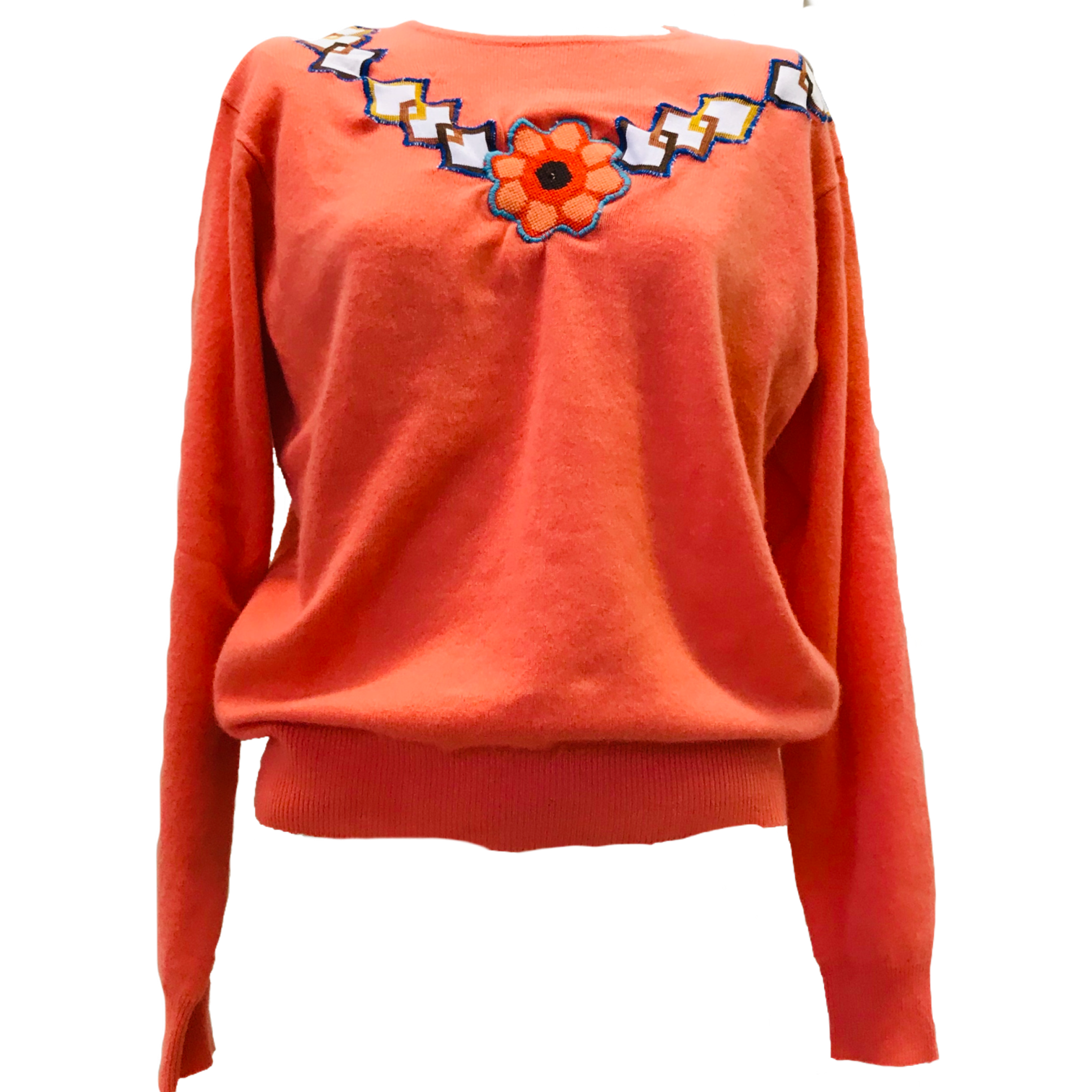 Coral Necklace Pullover / Size Extra Large