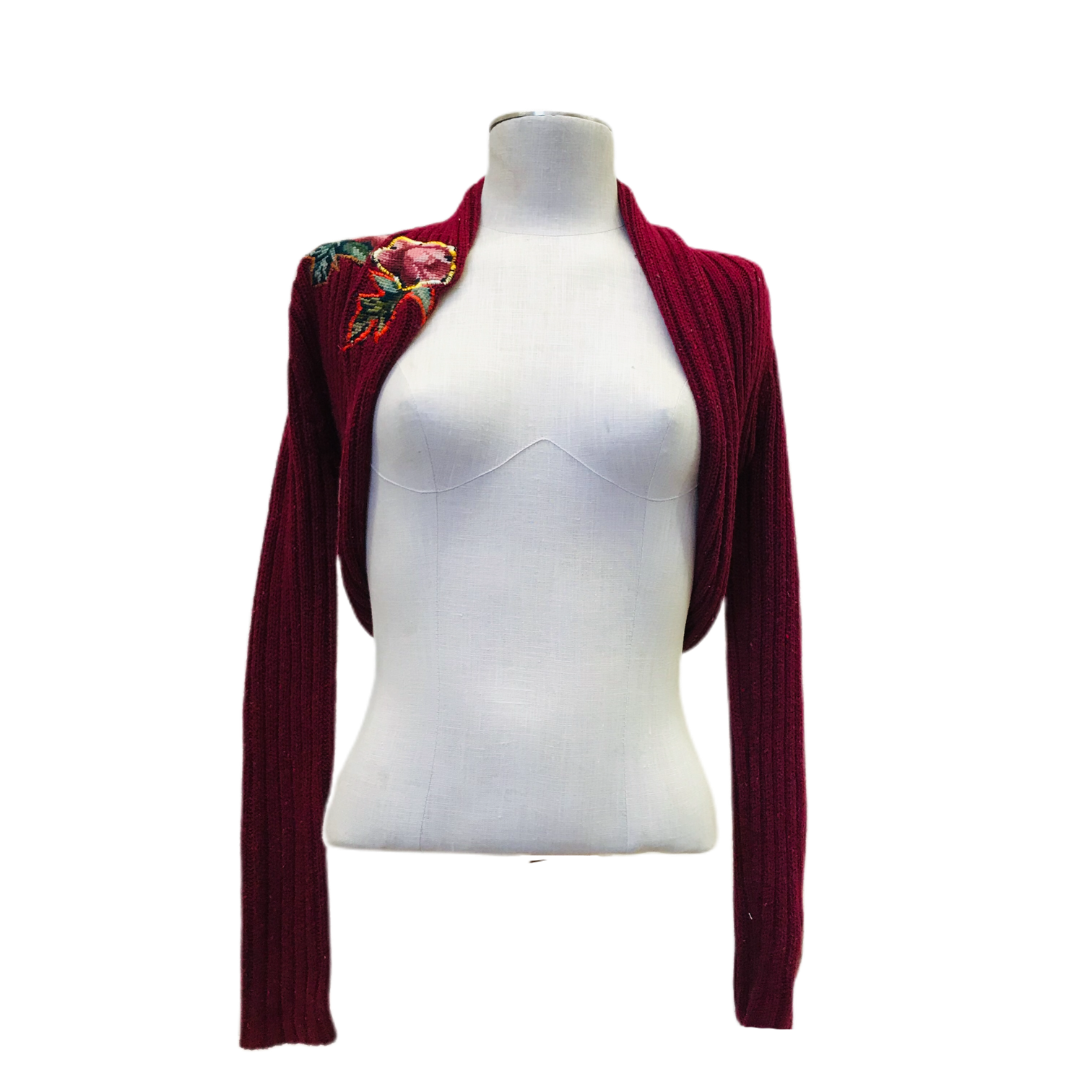 Red Blossom Shrug / Size Small