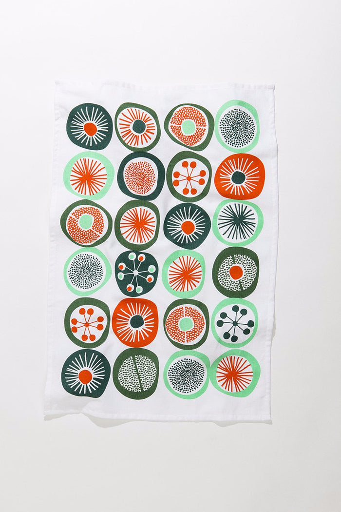 Retro Dot Tea Towel • Abstract Orange Series