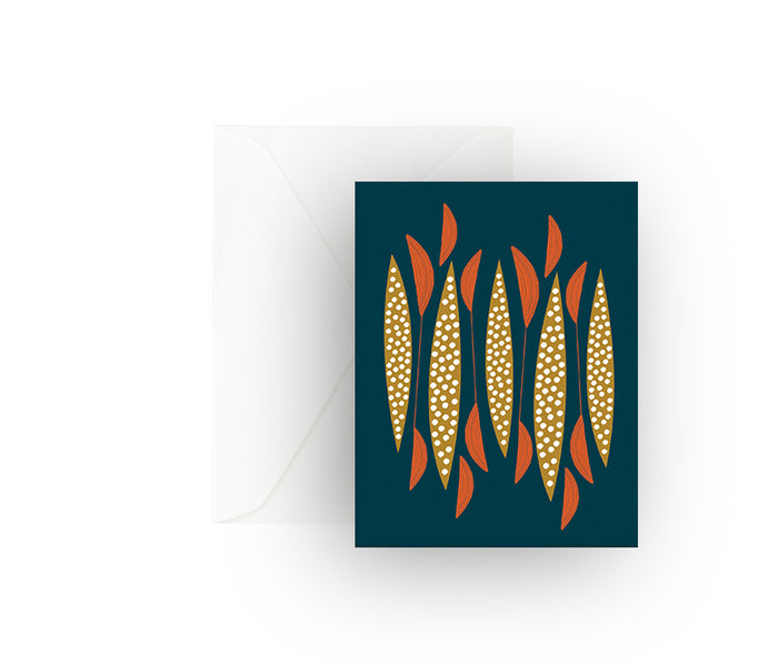 Blue Spears Greeting Card