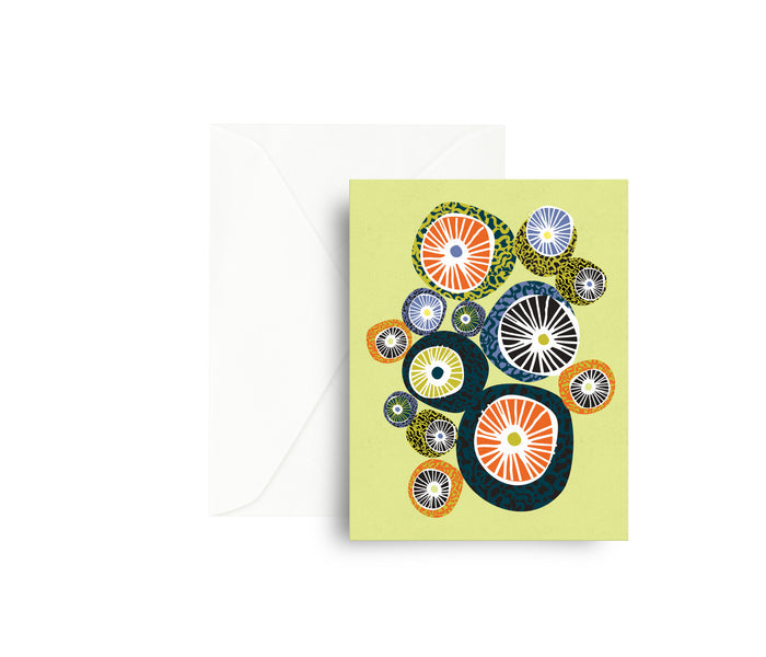 Moon Circles Greeting Card