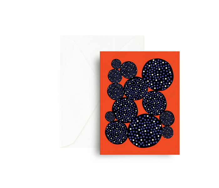 Red Cactus Greeting Card