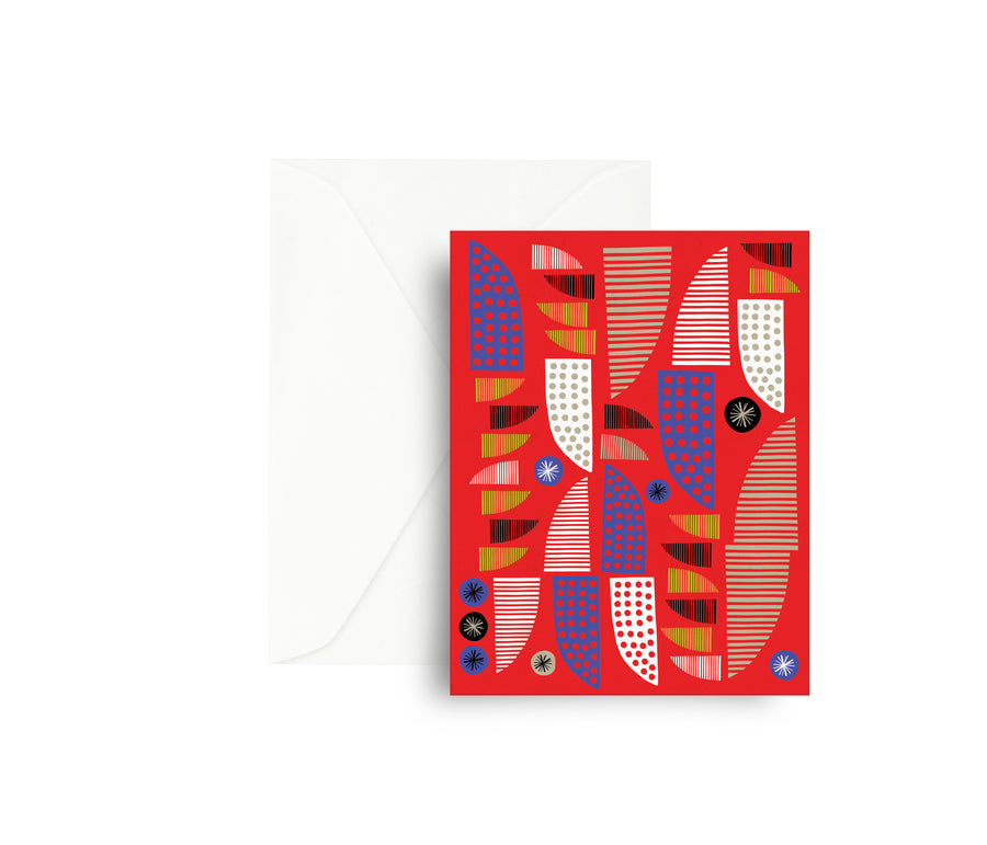 Red Allsorts Greeting Card