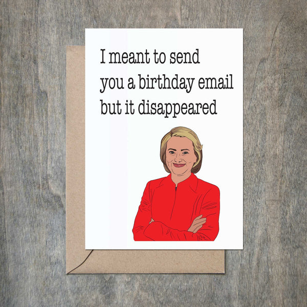 Crimson and Clover Studio - Hillary Clinton Email