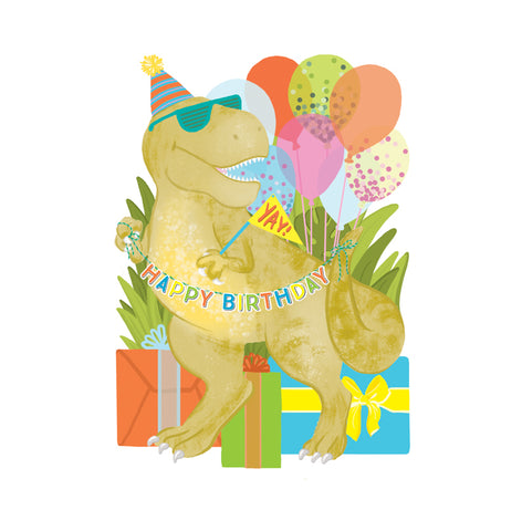 Alexis Mattox Design - Birthday Dino Die Cut Card