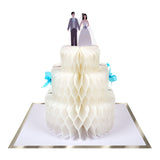 Wedding Cake Honeycomb Card