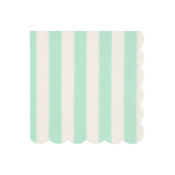 Mint Striped Napkins (small)