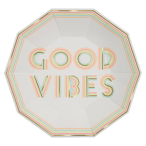 Large Good Vibes Plates