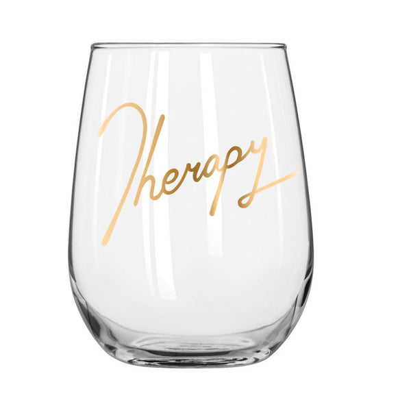 Therapy Stemless wine glass