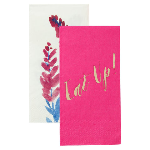 Fluorescent Floral Duo Napkin