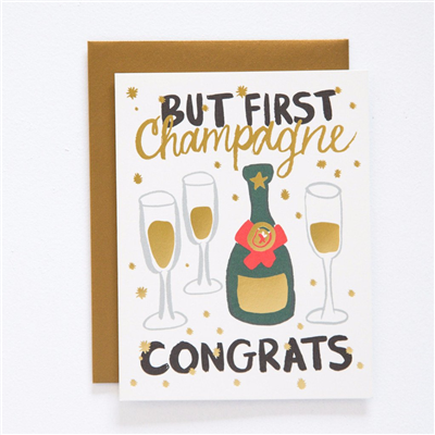 9th Letter Press - Champagne Congrats