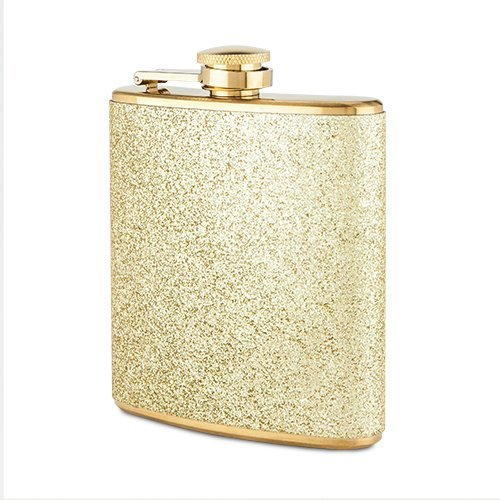 Sparkletini Stainless Steel Gold Flask
