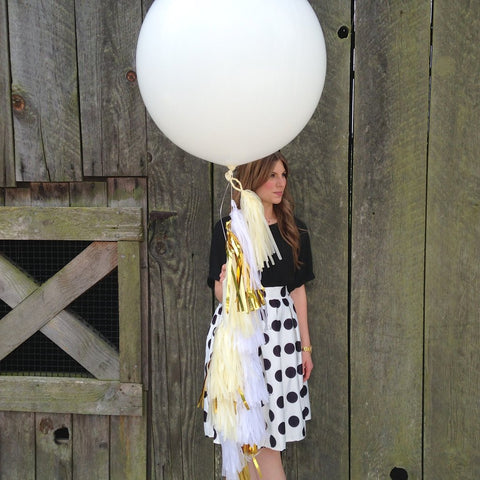 Balloon Tassel Kit - White