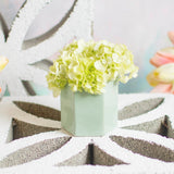 Seafoam honeycomb mini planter