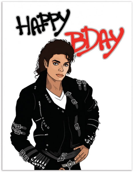 Michael Jackson-Birthday Card