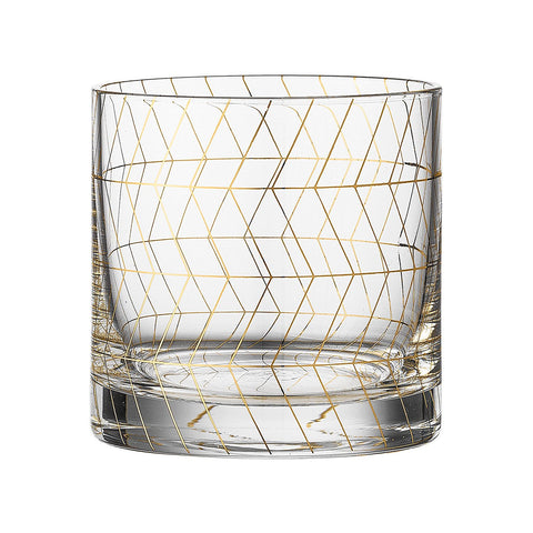 Gold Trim Drinking Glass