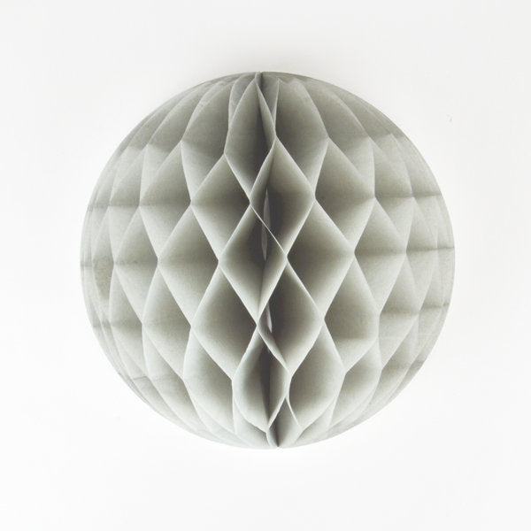 My Little Day - Honeycomb Paper Ball Grey 6""