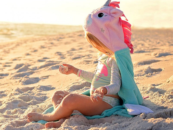 alli the unicorn hooded towel