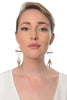 Tendai | asymmetrical 14k gold plated arrows + sea anemone + orbs