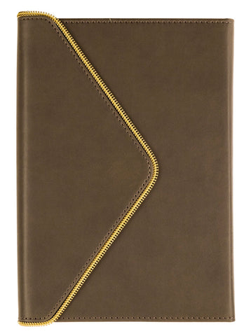 Envelope Gold Zipper Journal