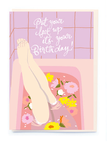 PUT YOUR FEET UP BIRTHDAY CARD