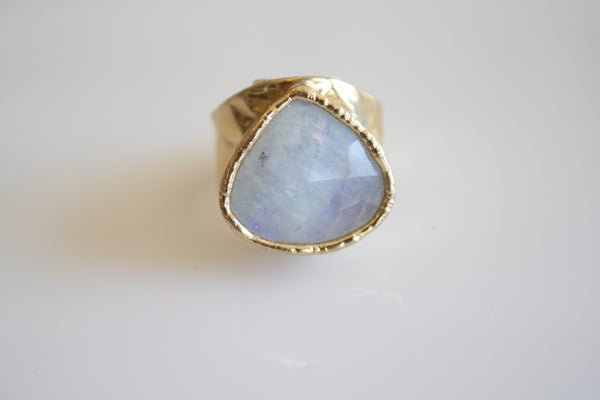Opal Moon Stone Ring