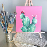 Spring Cactus Painting April 11