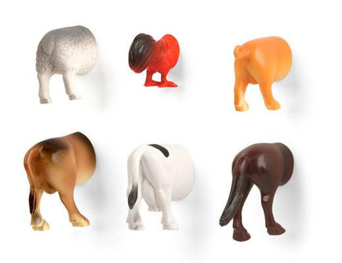 Farm Animal Butt Magnets