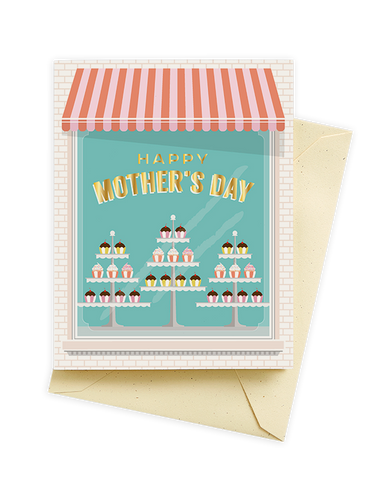 Cupcake Shop Mother's Day Card
