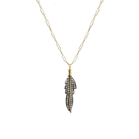 Modern Feather Necklace