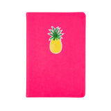 Pineapple Sequin Patch pink notebook