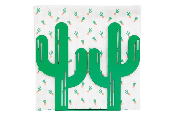 cactus napkin holder and napkins