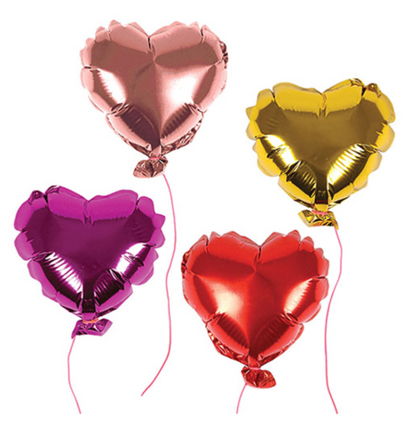 8 Mini Heart Balloons