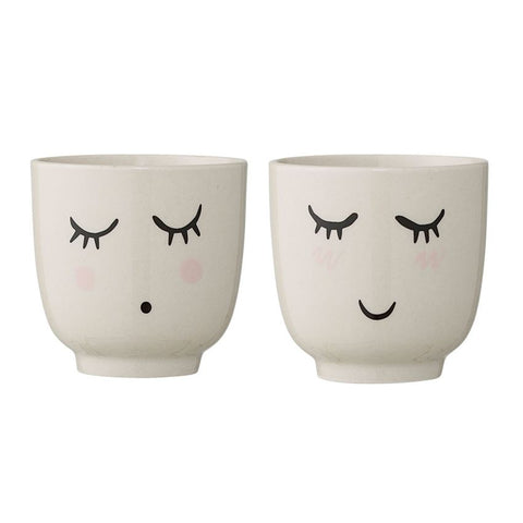 Stoneware Cup in White, 2 Styles