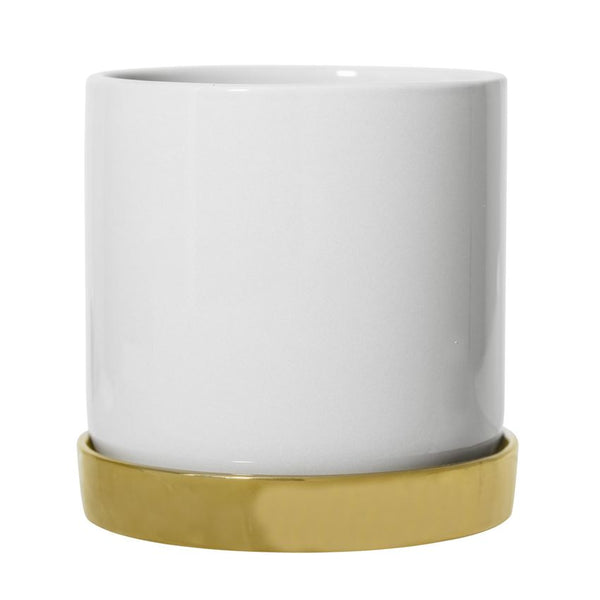 WHITE + GOLD PLANTER