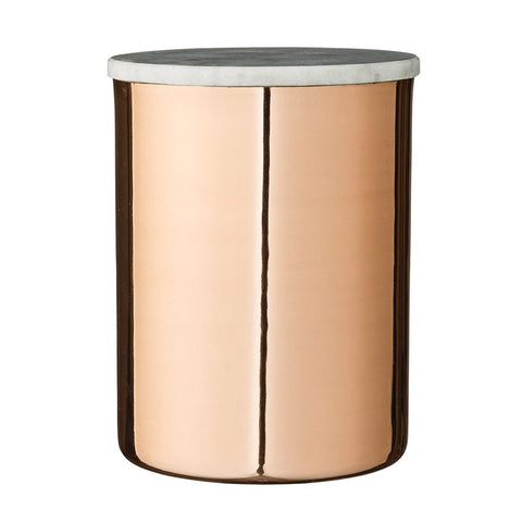 Copper Finish Jar with Grey Marble Lid