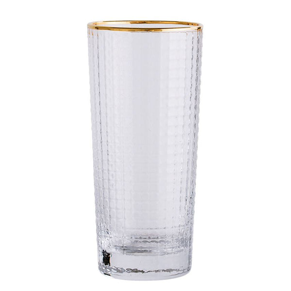 Drinking Glass with Gold Trim
