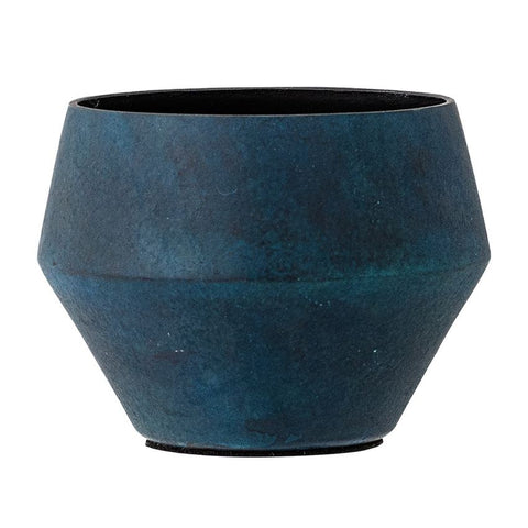 Marbled Blue Finish Planter