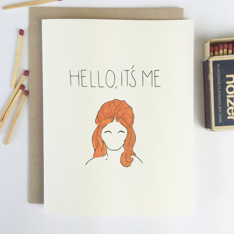 Chalkscribe - Hello It's Me Card